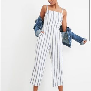 NWT Old Navy Striped Linen Cami Jumpsuit